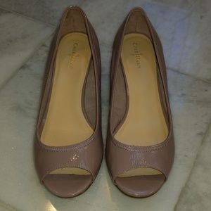 Cole Haan Air Tali Wedges Bark Patent
